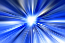 Bright Abstract Blue And White Streaked Background