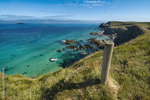 Fotografie, Obraz Trevone - Cornwall Coastline UK