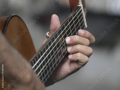 Arpegio de guitarra española Canvas Print