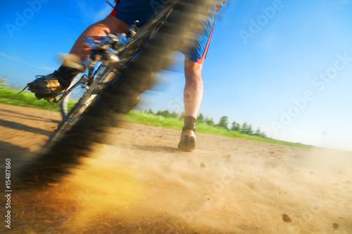 Spoed Foto op Canvas Fietsen Extreme cycling sport