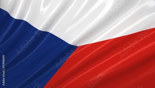 Flag of Czech Republic . Flag series. Poster Mural XXL