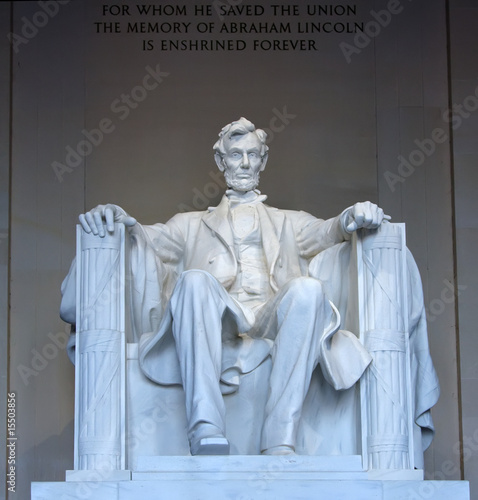 Foto  Statue of Abraham Lincoln in the Lincoln Memorial