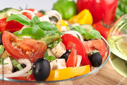 Fotografie, Obraz  greek salad bowl