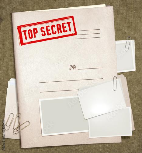 Fotografía  top secret folder