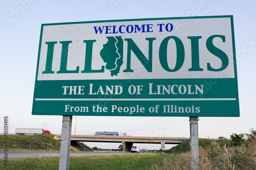 Obraz na plátne Illinois Welcome Sign