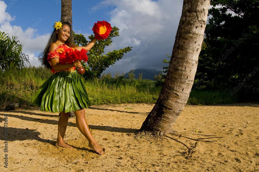 Fototapeta Hula dancer