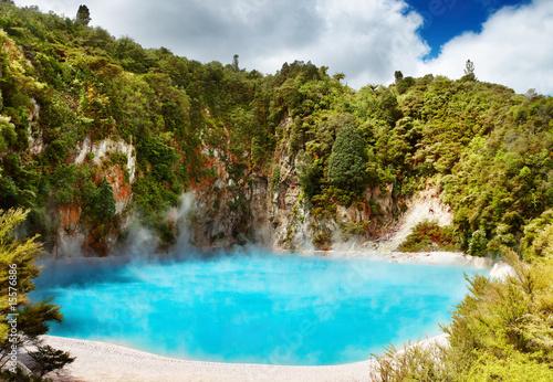 Poster Nouvelle Zélande Hot thermal spring, New Zealand
