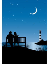 Abendromantik Am Meer