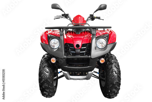 front view of atv quad-bike isolated