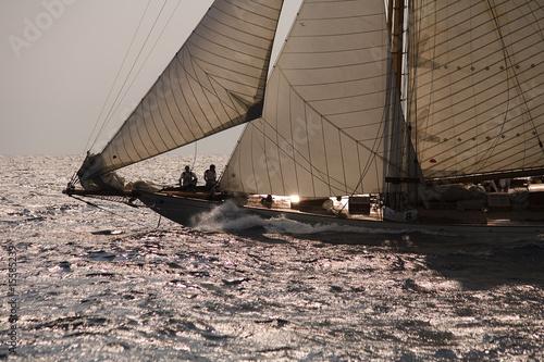 Old sailing boat Canvas Print