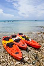 Boats On Beach Of Samed Island...