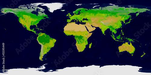 Tuinposter Wereldkaart Erde Vegetationszonen