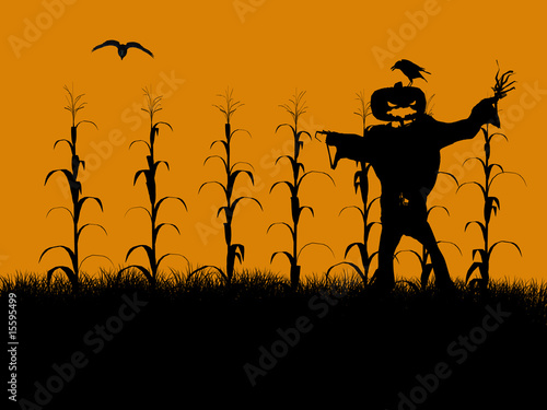 Halloween Illustration silhouette Canvas-taulu