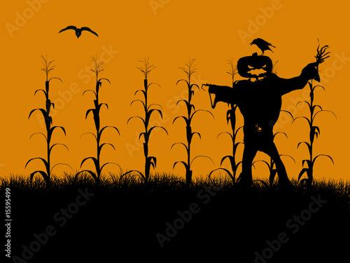 Obraz na plátne Halloween Illustration silhouette