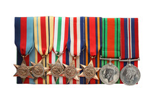 A Collection Of British Army Second World War Medals.