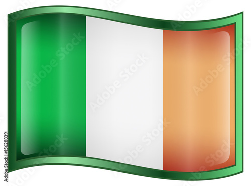 Ireland Flag Icon Poster