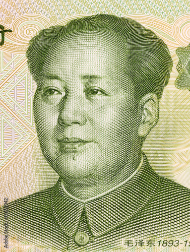 Obraz na plátně Mao Tse Tung on 1 Yuan 1999 Banknote from China