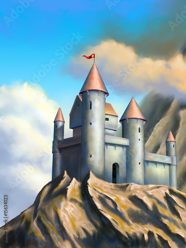 Photo sur Toile Chateau Fantasy castle
