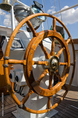 Keuken foto achterwand Schip Steering wheel