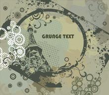 Grunge Frame With Urban Elements