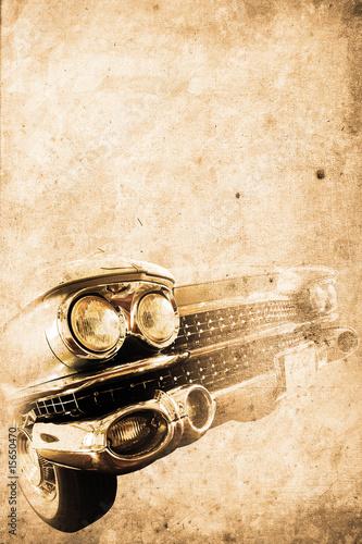 Plakat na zamówienie old car