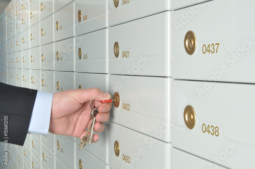 Fotografía  Deposit safe bank