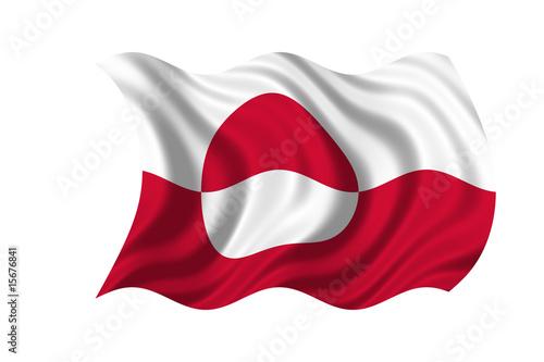 Fotografie, Obraz  Greenland Flag