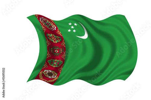 Turkmenistan Flag Canvas Print