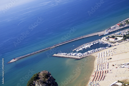 Terracina coast line from the mountain Canvas-taulu