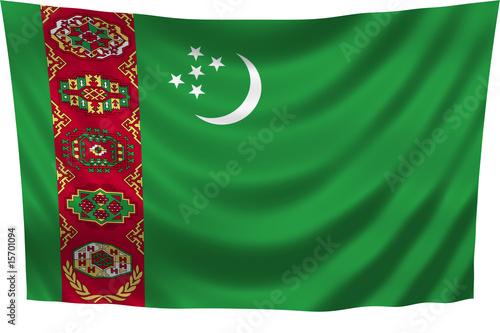 Turkmenistan Flag Wallpaper Mural
