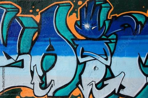 Foto auf AluDibond Graffiti Street art