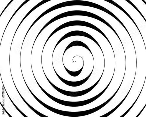 Poster Spiral Ausschnitt einer schwarzen Spirale auf weißem Hintergrund
