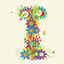 Letter I, Floral Design. See Also Letters In My Gallery