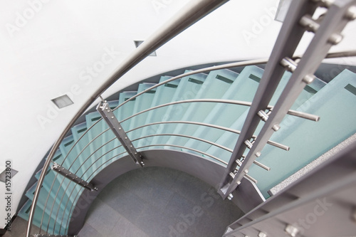 Photo Stands Stairs moderne glastreppe