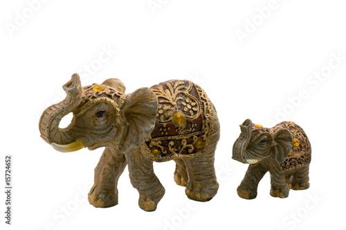 Elephant and the elephant calf.