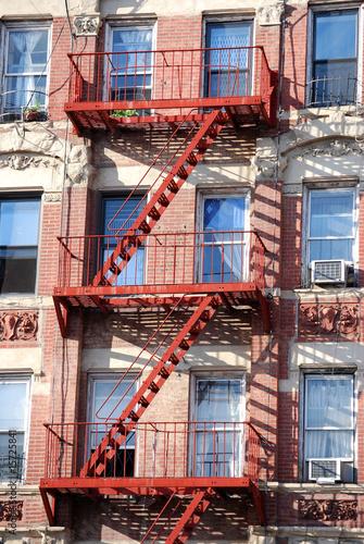 Staande foto Industrial geb. escaliers de secours new york