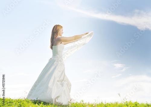 Obraz na plátně  bride outdoor