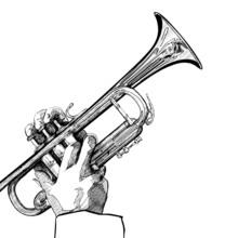 Trumpet On White Background