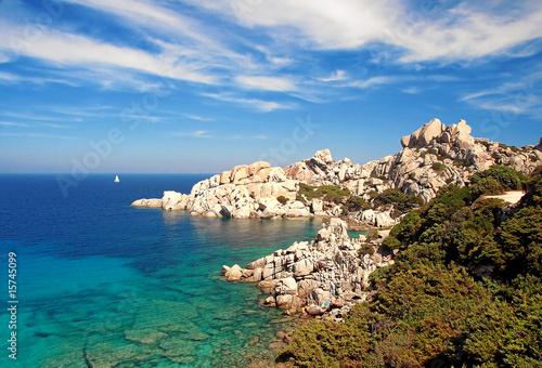 Foto-Leinwand - Capo Testa auf  Sardinien