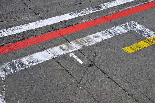 Foto op Aluminium Motorsport Formel 1 - Motorsport - pole position (Startplatz 1)