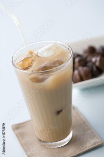 In de dag Milkshake アイスカフェオレ