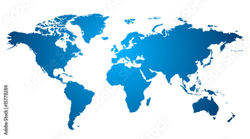 Deurstickers Wereldkaart World map