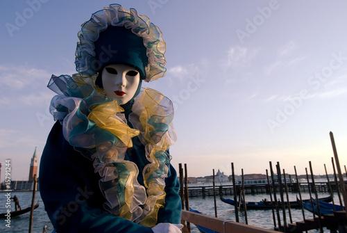 Fototapeta Person in fantasy costume at Venetian Piers