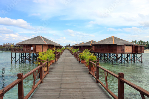 Printed kitchen splashbacks Zanzibar Sipdan Water Village Resort