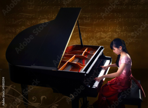 Fotografie, Obraz  young pianist