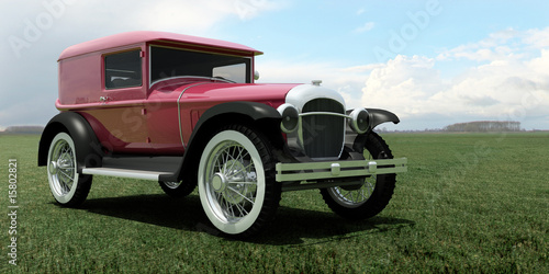 Tuinposter Oude auto s oldtimer