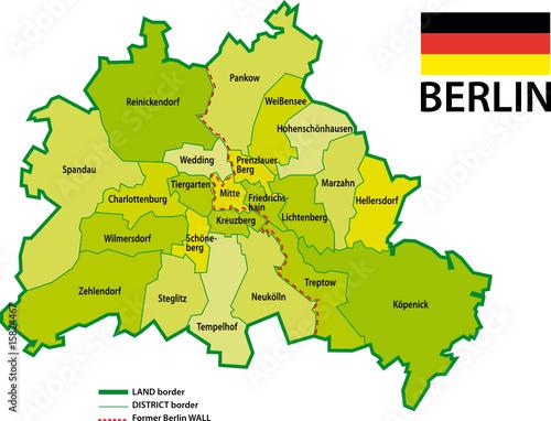 Berlin Karte Bezirk 2009 Buy This Stock Vector And Explore
