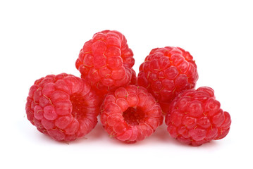 Some ripe raspberries