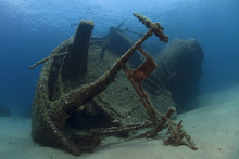 A Wreck Of A Ship Lying On The...