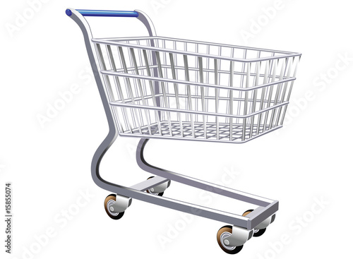Fotografía  illustration of a stylized shopping cart